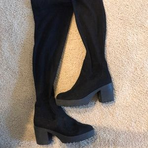 Thigh high forever 21 boots